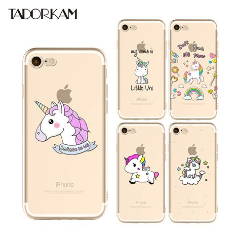 Black Unicorn For Iphone 6 6s 6 Plus 6s Plus 7 7 Plus lovely unicorn phone cases for iphone 6 6s 7 8 plus clear soft tpu silicon transparent beautiful