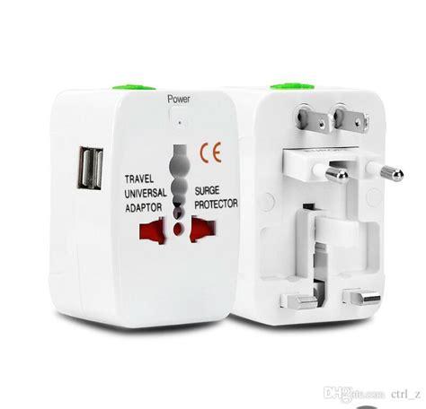 Promo Brand Steker Adaptor Universal All In One 1 all in one universal international adapter 2 usb port world travel ac power charger adaptor