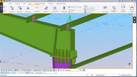 portal frame design youtube best tapered portal frame structure modelling in tekla