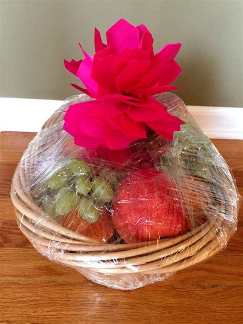 Handmade Fruits - easy dyi fruit basket gift idea melanie cooks