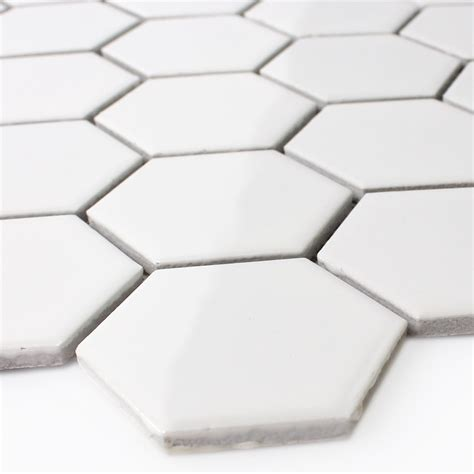 Fliese Hexagon by Keramik Mosaik Fliesen Hexagon Weiss Gl 228 Nzend Ebay