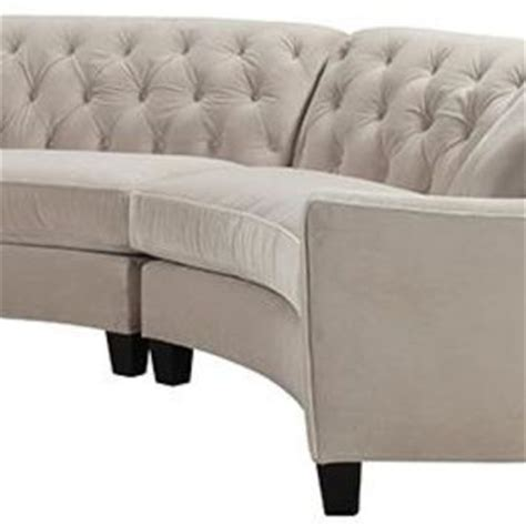 Riemann Tufted Sectional by Riemann Curved Tufted Sectional Sofas From Home Decorators