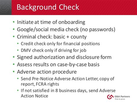 Adverse Letter Background Check G A Partners Webinar Pitfalls To Avoid During The Hiring Proce