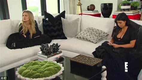 Kim Kardashian gives eyeful of her bosom with Kris Jenner