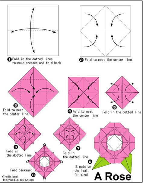 Origami Flower How To - easy origami for other