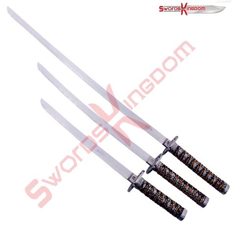 sword 3 read sword 3 symbol 3 blue samurai swords set