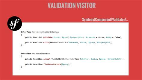 visitor pattern validation design pattern in symfony2 nanos gigantium humeris