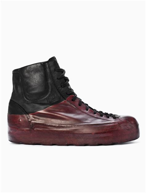 black bottom sneakers oxs rubber soul high bottom sneakers in black for lyst