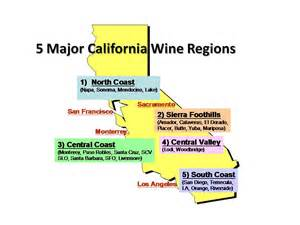 california wine map regions
