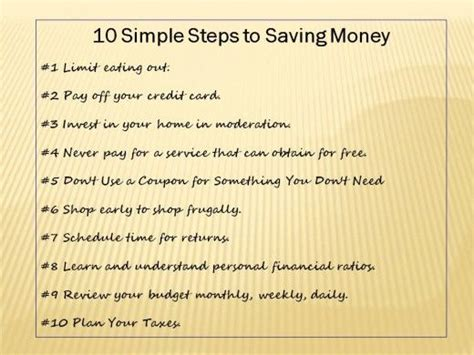 10 Steps For The Best Possible Savings On Everything by Saving Money Money And Simple On