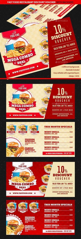 printable vouchers restaurants restaurant fast food discount voucher print template