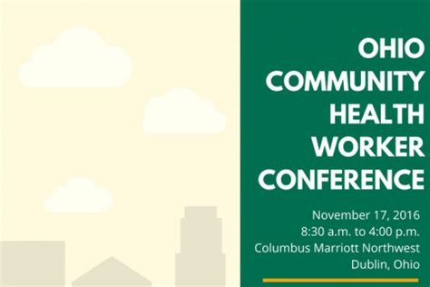 the ohio community health worker conference ohio