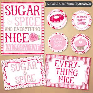 sugar and spice baby shower the shopperie by lly designs sugar spice baby shower printables store powered by