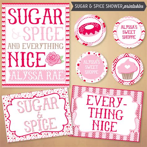 Sugar And Spice And Everything Baby Shower by The Shopperie By Lly Designs Sugar Spice Baby Shower