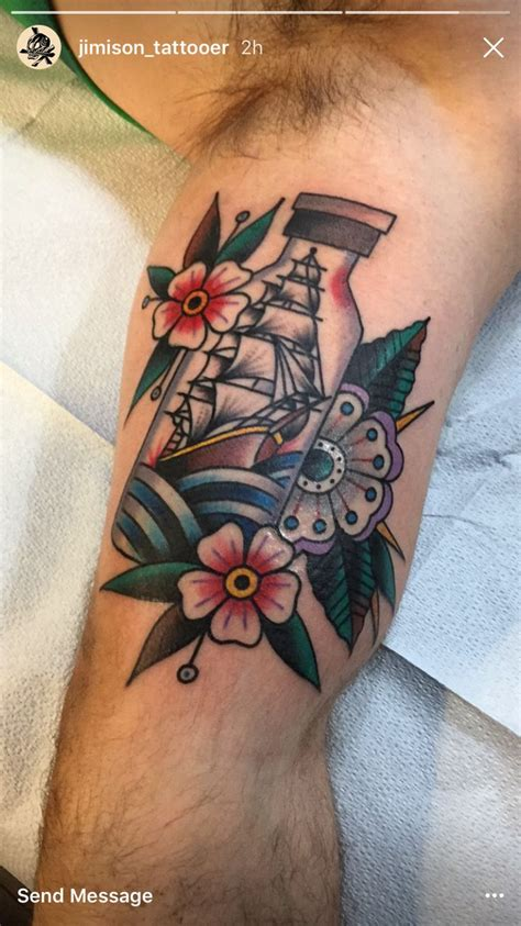 traditional sailor tattoos 717 best in a bottle tattoos images on