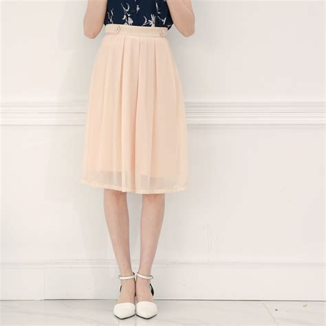 mayuki womens pleated skirt with waist button detail