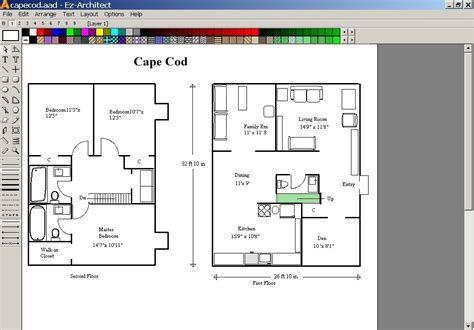 easy 2d architectural design software screenshot review downloads of demo ez architect