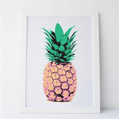 printable pineapple wall art printable art pineapple wall art print pink green and yellow
