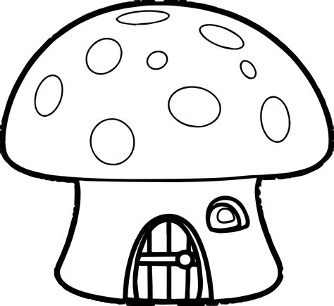 Printable Coloring Pages Mushrooms Short Leg Studio