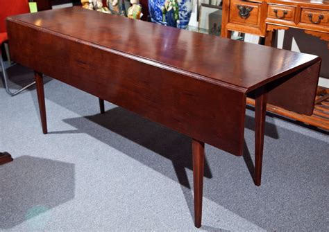cherry wood dining room table cherry wood dining table with drop leaf at 1stdibs