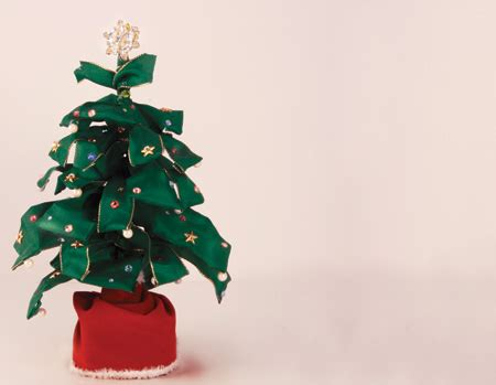 diy wired ribbon christmas tree 171 m j blog
