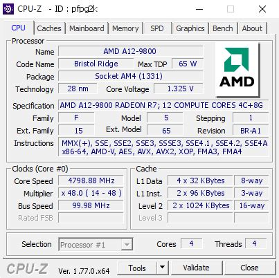 Processor 7th A8 9600 Apu Amd Box amd a12 9800 apu overclocked to 4 8 ghz on am4 asus octopus