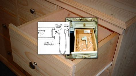 Homemade Kitchen Island Ideas install an outlet in a drawer for convenient gadget