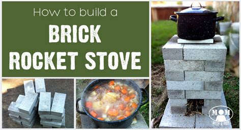 Free Small Home Plans build a brick rocket stove mom with a prep