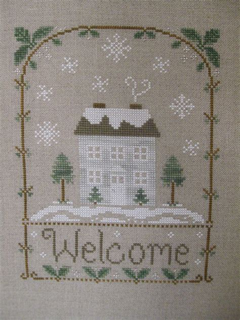 Winter Welcome Country Cottage Needleworks I Cross Stitch Pinterest Cottages Country | winter welcome country cottage needleworks i cross