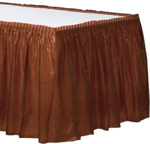 city table skirts chocolate brown plastic table skirt 168in x 29in city