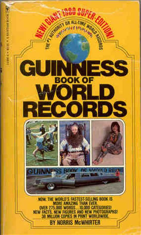 guinness world records science stuff books guinness book of world records 1980 by norris mcwhirter