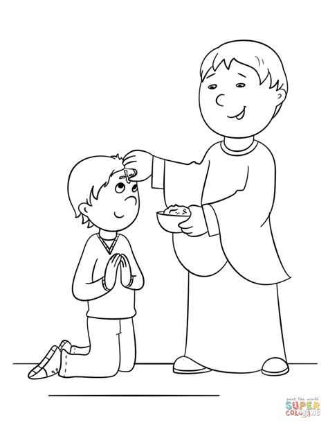 ash wednesday coloring page free printable coloring pages