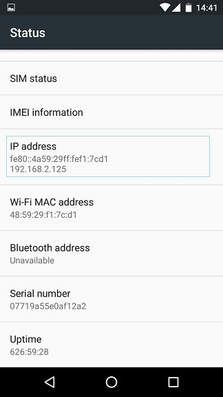 android ip address how to find your android device ip address my network