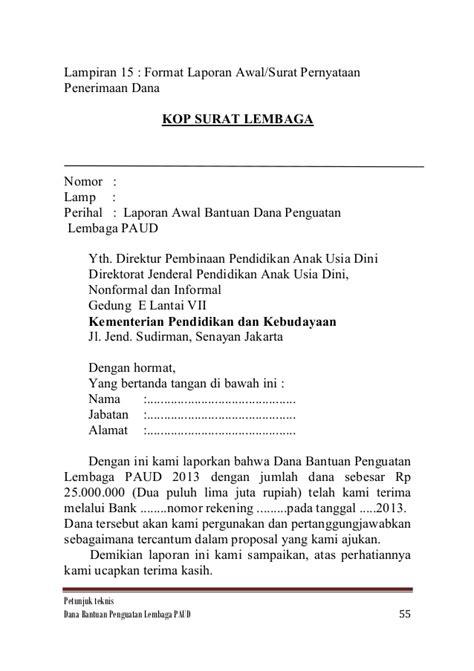 contoh surat pernyataan laporan keuangan tidak diaudit