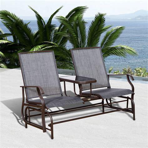 metal garden swing bench outdoor bench patio chair metal garden furniture deck