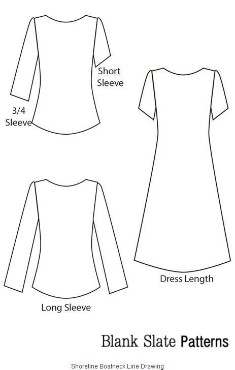boat neck dress free pattern blank slate shoreline boatneck shoreline boatneck top and