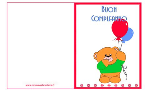auguri di buon compleanno bambini auguri compleanno orsetto con palloncini in biglietti da