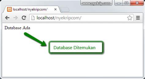 cara membuat koneksi database mysql menggunakan odbc cara koneksi database mysql dengan php nyekrip