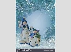 Christmas Snowman Border Blue Ornaments Illustration Free Christmas Ornaments Clip Art