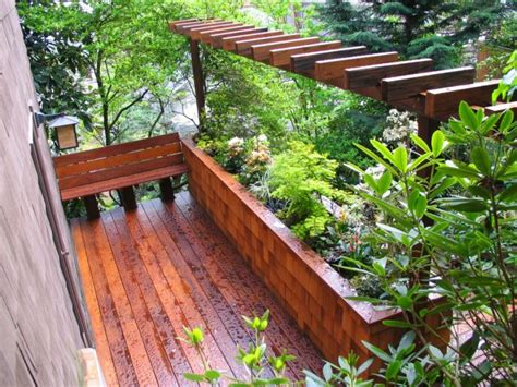 Built In Planter Boxes by 15 Special Built In Bench Planters You About