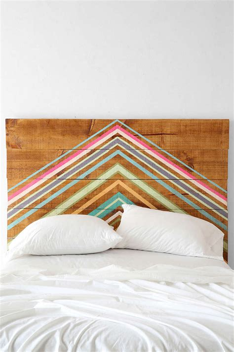 geometric headboard diy or buy attention grabbing geometric headboards