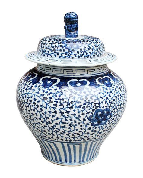 blue pattern ginger jar blue and white vine pattern ginger jar the pink pagoda