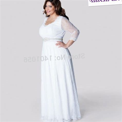 Informal Wedding Dresses by Plus Size Informal Wedding Dresses With Sleeves Pluslook
