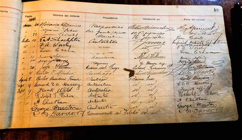 libro el registro de la la firma del ministro g 243 mez en el libro registro de visitas ilustres de la bomba magallanes