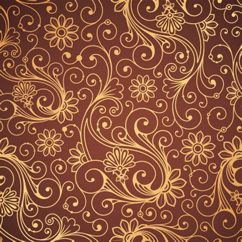 brown pattern vector set of brown paisley patterns vector free vector in