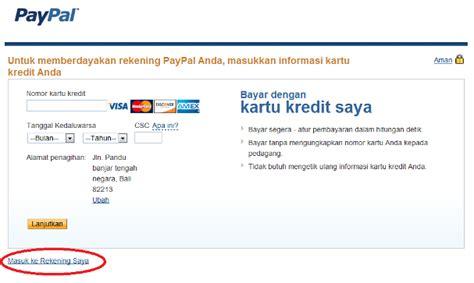membuat akun paypal tapi tidak punya kartu kredit sugiyanto internet