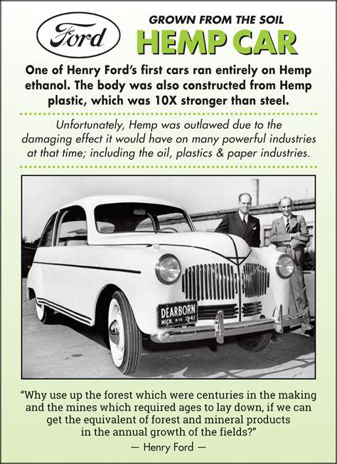 Henry Ford Hemp Car by Hemp History Hempvictorygarden