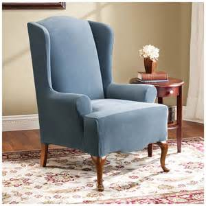 Wing Chair Slipcover Clearance Sure Fit 174 Stretch Pearson Wing Chair Slipcover 292826