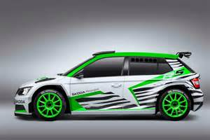 skoda fabia r5 concept previews 2015 wrc 2 rally car