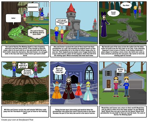 The Land Of the land of stories storyboard by fadeelahusmani